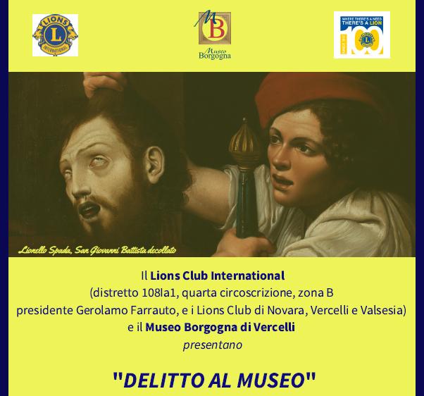 """""""DELITTO AL MUSEO"""" - Raccolta benefica a favore dei terremotati del centro Italia-"""