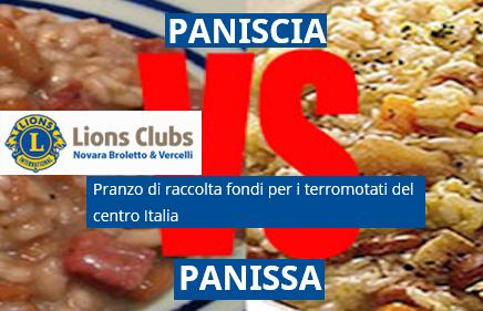 PANISCIA VS PANISSA, sfida gastronomica benefica